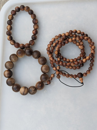 """The Beauty of the Death"" Wild Aged Sandalwood  beads"