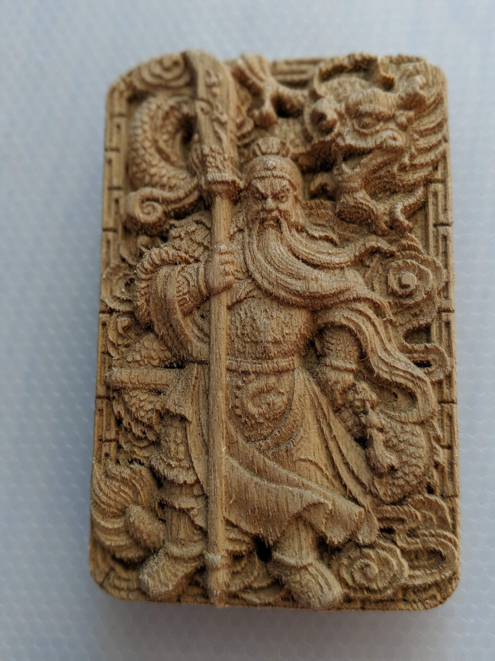 The God of War Guan Yu Agarwood Pendant / Car Hanger - Grandawood- Agarwood Australia