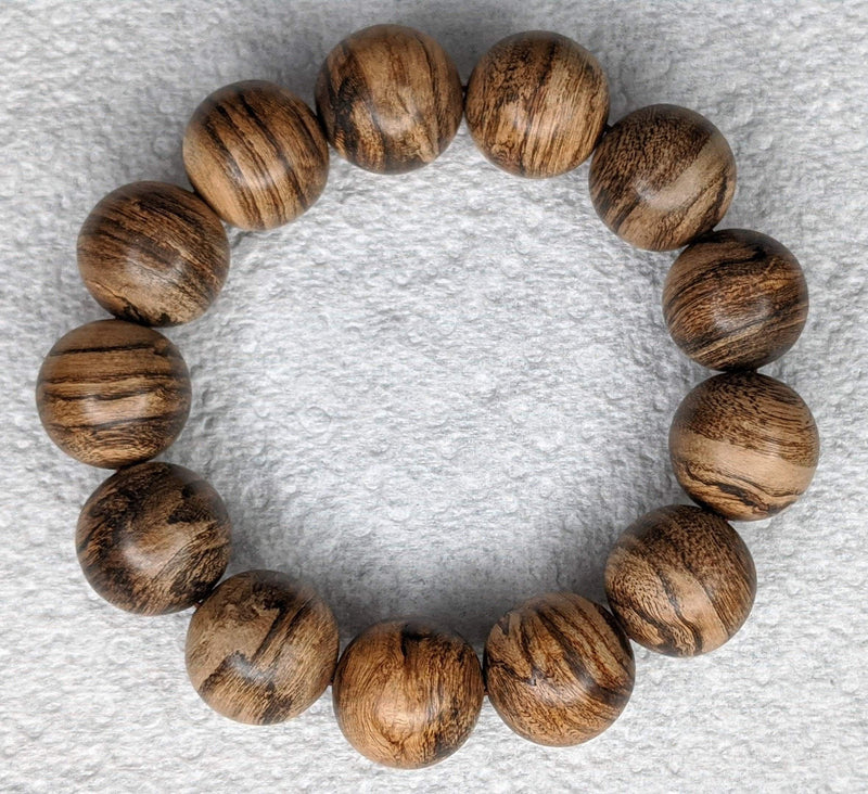 *New* The Timeless Scar - Wild Agarwood bracelet from Borneo, 18mm, 32.8g - Grandawood- Agarwood Australia