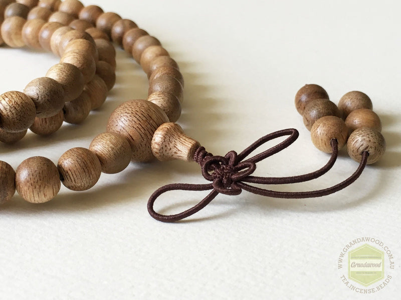 Vietnamese Cultivated Agarwood Mala beads 108