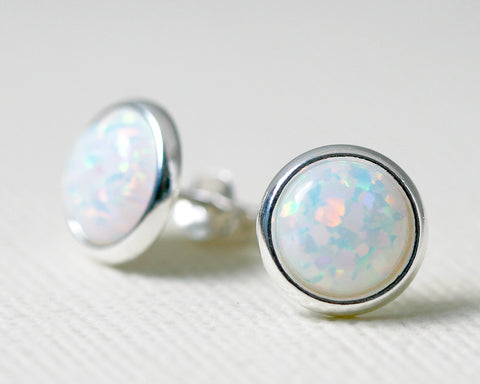 Opal Earrings,Geode Earrings,Gemstone Earrings,Stud Earrings,925 Sterling Silver,Opal Stud,Tiny Stud,opal stud