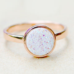 Druzy Ring,Rose Gold,Quartz Ring,Agate Ring,Geode Ring,Gold Ring,Gemstone,Stacking ring,Delicate ring,Drusy ring,silver,Sparkle,Dainty