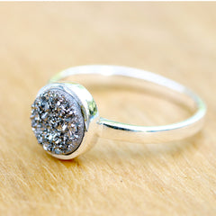 Geode Ring,Agate Ring,Druzy Ring,Silver Band,Crystal Ring,Stacking ring,stone ring,Quartz Ring,Gifts idea,Drusy Ring,Gemstone,Geode,Druzy