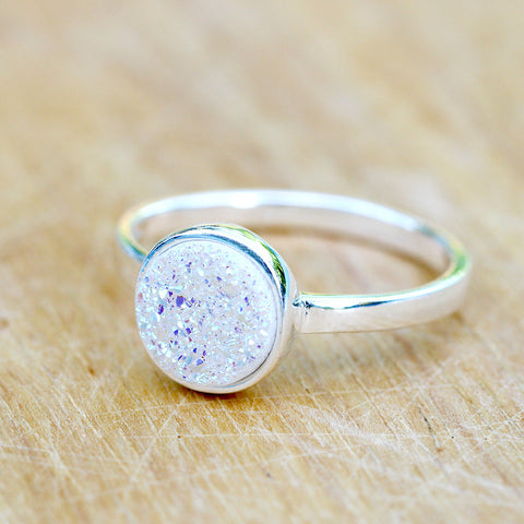 Druzy Ring,Stacking Ring,Geode Ring,Crystal Ring,Stone Ring,drusy ring,Gemstone ring,Stack ring,Gemstone Ring,Silver,Jewelry,Summer,Geode