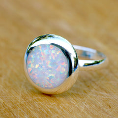 White Opal Ring,Geode ring,October Birthstone,Birthstone ring,gemstone ring,Agate ring,Unisex Ring,Father day,For him,Summer gifts,Opal,Trending