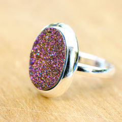 Druzy ring,Geode Ring,Agate Ring,Drusy Ring,Quartz Ring,Statement ring,Cocktail ring,Gifts idea,unique ring,Silver ring,Raw Crystal