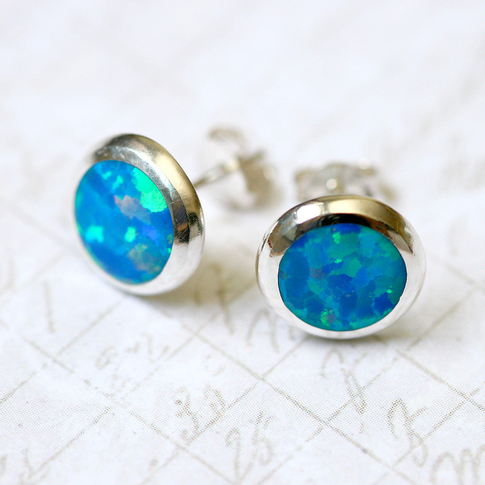 stud online gemstone product rose cubic blue stone earrings white design buy img earring shape zirconia alloy