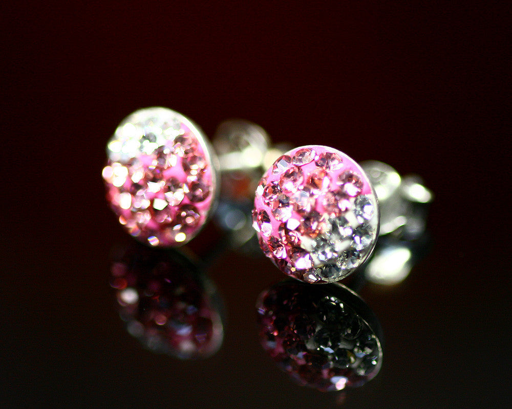 Pink and white,Crystal Earrings,Crystal Stud,stud earrings,Swarovski Stud,Diamond Earrings,Diamond Stud,Trending,Birthday gifts