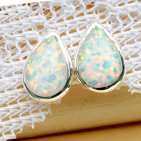 White Opal Earrings,Stone Earrings,Gemstone earrings,Agate earrings,Stud earrings,Opal Stud earrings,opal necklace,Silver necklace,Jewelry,Opal