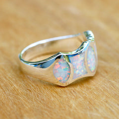 Men Ring,White Opal Ring,Geode ring,gemstone ring,Agate ring,Gemstone Ring,Opal,Silver,Birthstone ring,October,Stone ring,large stone ring