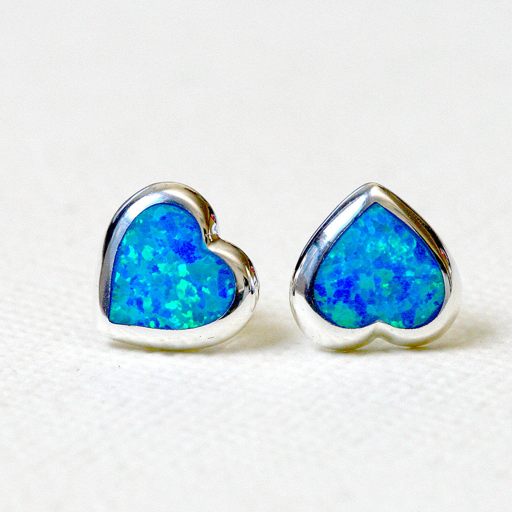 Heart Opal Earrings,Opal drop earring,Gemstone Earrings,Bridal Earrings,Opal Stud,Stone earrings,birthday gift,anniversary gift,bridal earrings