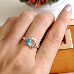 White heart ring,Opal Ring,Geode ring,October Birthstone,Birthstone Ring,gemstone ring,Agate ring,Fathers day,Gifts,Summer,Trending,Unisex,Graduation