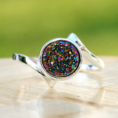 Rainbow,Druzy Ring,Peacock Ring,Crystal Ring,Agate Ring,Gemstone Ring,Geode Ring,statement ring,stone ring,quartz ring,drusy ring,unique