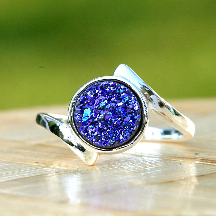 Druzy Ring,Crystal Ring,Geode Ring,Cocktail Ring,Stone Ring,Quartz Ring,Agate Ring,Gemstone Ring,Summer,drusy ring,silver,unique,handmade