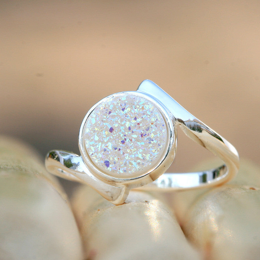 Druzy Ring,Stone Ring,Agate Ring,Gemstone Ring,Geode Ring,statement ring,Quartz ring,drusy ring,delicate ring,stacking,Cocktail ring,Silver