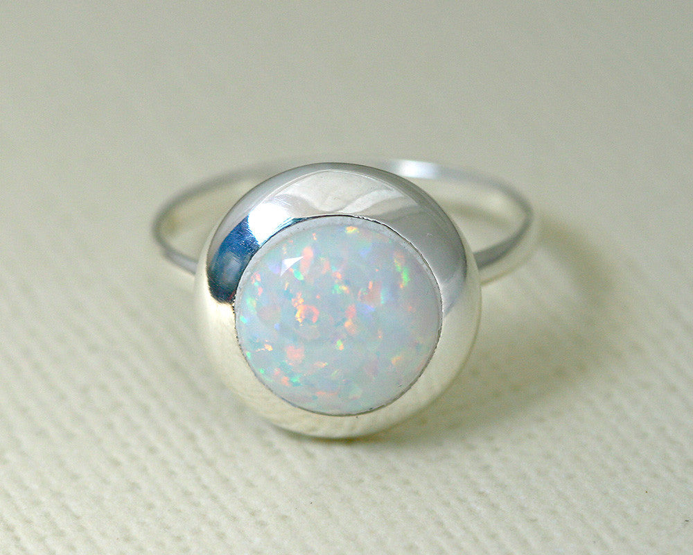 White Opal Ring,Unisex Ring,Geode ring,October Birthstone,Birthstone Ring,gemstone ring,Agate ring,Unisex Ring,Gift idea,Fathers ring