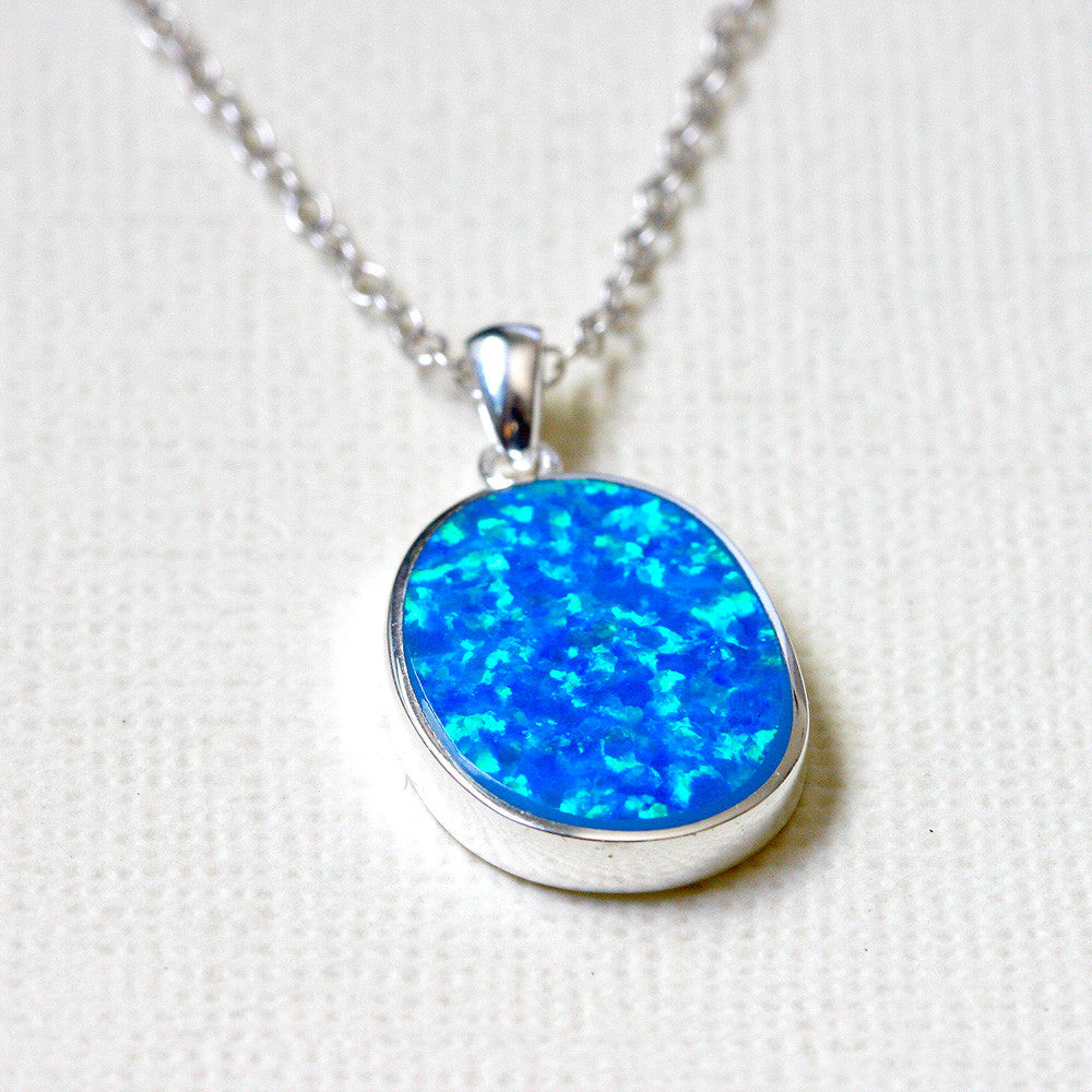pendants opal australian blue pendant handmade product jewelry black rings