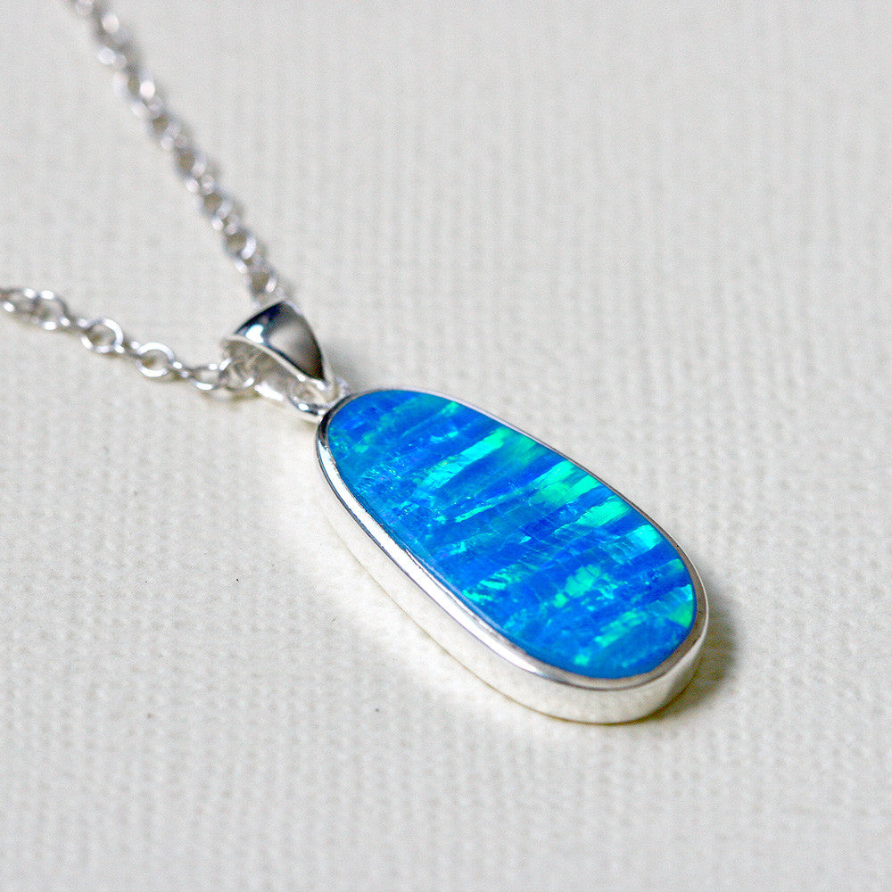 blue pendant few opal products jewelry made img y necklace heavenly