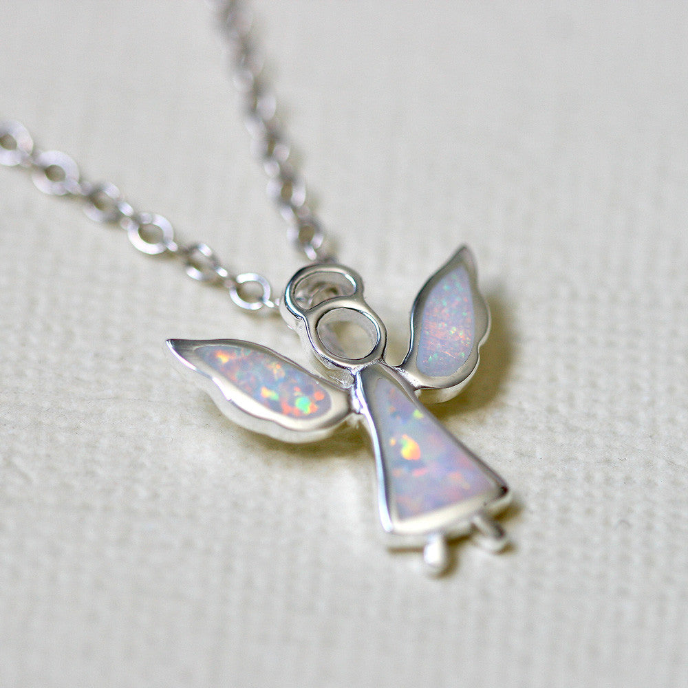 fashion rhodium plating j necklace letter gold in snow jewelry necklaces from silver pendant white rose opal item