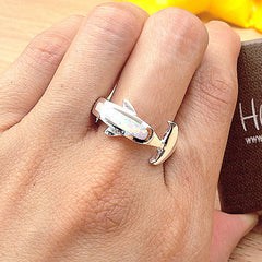 White Shark ring,Opal Ring,Geode ring,gemstone ring,Agate ring,October birthstone,Unisex Ring,Trending,Summer gifts,Father day gift,For him,Dad gifts,unique ring