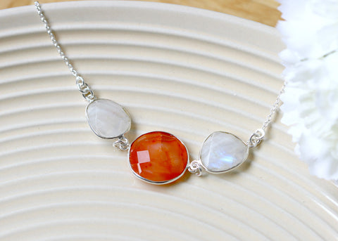 Carnelian Necklace,Boho Necklace,Bohemian Necklace,Mom jewelry,Silver necklace,Bridesmaids gifts
