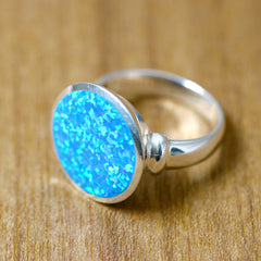 Blue opal Ring,Statement ring,Opal Ring,Geode ring,October Birthstone,Birthstone Ring,gemstone ring,Agate ring,Mother Ring