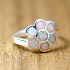 White Opal Ring,Geode ring,gemstone ring,Agate ring,Stone ring,Opal,silver,jewelry,Unique,delicate,dainty,handmade,Birthday gifts,Gift idea,October birthstone