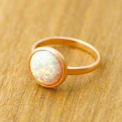 Rose gold,Opal Ring,Unisex Ring,October Birthstone,Birthstone ring,Geode ring,Agate ring,Summer Gifts,Stone ring,Opal,SIlver,Jewel