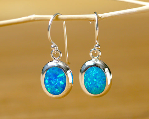 Blue Opal Earrings,Tiny Drop earrings,Geode Earrings,Gemstone Earrings,Bridesmaid Earrings,Opal jewelry,Anniversary gifts,Birthday gifts,birthstone