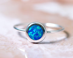 Tiny ring,Stacking Ring,Unisex Ring,Geode ring,October Birthstone,Opal Ring,gemstone ring,Agate ring,Fathersday,Stone ring,stone,opal,xmas,silver,tiny