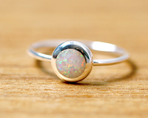 Stacking Ring,Tiny ring,Unisex Ring,Geode ring,October Birthstone,Opal Ring,gemstone ring,Agate ring,Fathersday,Stone ring,stone,opal,xmas,silver,tiny