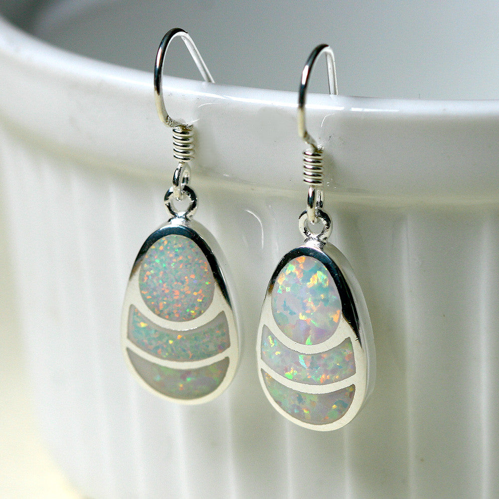 White Opal Drop earrings,Opal Earrings,Drop earrings,Opal jewelry set,Bridesmaid Earrings,Opal jewelry,Anniversary gifts,Birthday gifts,birthstone