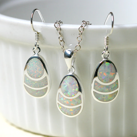 Opal Earrings,Drop earrings,Opal jewelry set,Opal Necklace,Bridesmaid Earrings,Opal jewelry,Anniversary gifts,Birthday gifts,birthstone