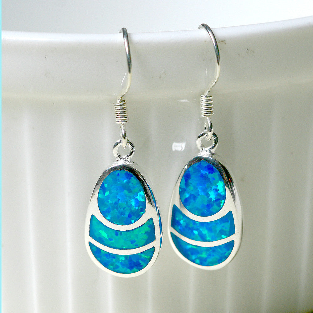 Blue Opal Drop earrings,Opal Earrings,Drop earrings,Opal jewelry set,Bridesmaid Earrings,Opal jewelry,Anniversary gifts,Birthday gifts,birthstone