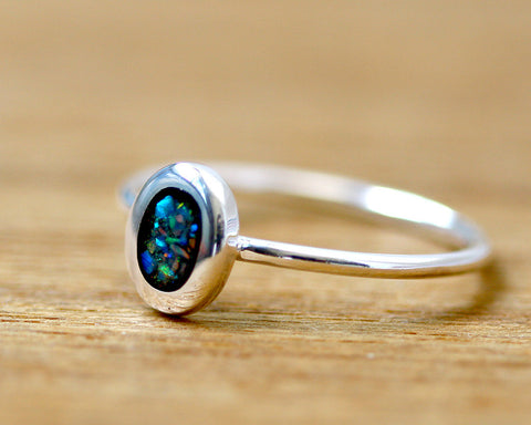 Stacking Ring,Black Ring,Geode ring,October Birthstone,Opal Ring,gemstone ring,Agate ring,Fathersday,Stone ring,stone,opal,xmas,silver,tiny