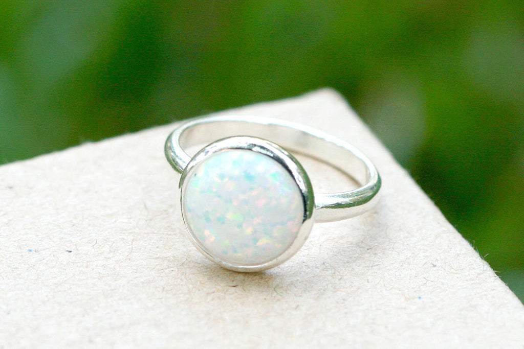 Opal Ring,Unisex Ring,October Birthstone,Birthstone ring,Geode ring,Agate ring,Summer Gifts,Stone ring,Opal,SIlver,Jewelry,Statement ring