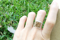 Geode Ring,Agate Ring,Stone Ring,Druzy Ring,Square Ring,Statement ring,Cocktail ring,drusy RIng,Quartz ring,Silver,Jewelry,Geode,druzy
