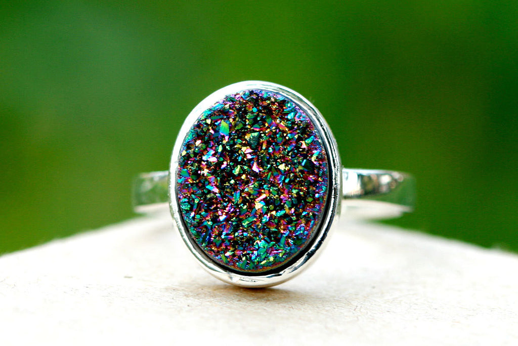 Druzy Ring,Drusy Ring,Geode Ring,Statement Ring,Agate Ring,Gemstone Ring,Quartz Ring,Stone Ring,Silver,July,Summer,Geode,Gifts idea,Birthday