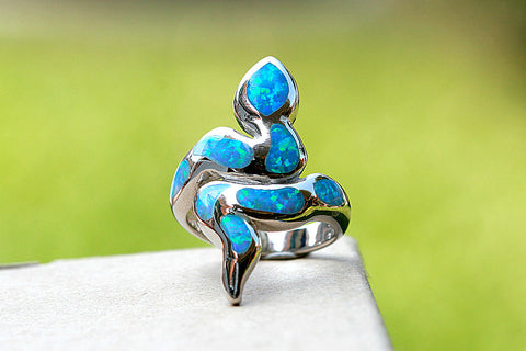 Snake Ring,Opal Ring,Geode ring,gemstone ring,Agate ring,Unisex Ring,stone ring,October Birthstone,For him,Summer gifts,Opal,Silver,Unique