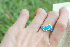 0071_OPRB,Opal Ring,October birthstone,Agate ring,Gemstone Ring,Geode Ring,Stone ring,Opal,stone,agate,geode,delicate ring,dainty,simply,unisex ring