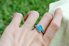 Opal Ring,Geode ring,gemstone ring,Agate ring,October Birthstone,Unisex Ring,Father day,For him,Dad,Trending,Summer gifts,Opal,New trend