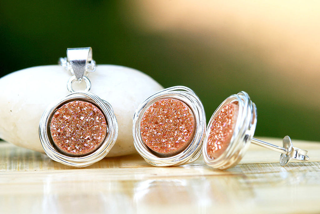 Geode earrings,Druzy Earring,Drusy Earrings,Gemstone earrings,Agate Earrings,Druzy Necklace,Geode necklace,Gemstone Necklace,Agate Necklace
