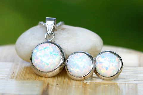 0004_OPSW,Opal Earrings,Stud earrings,Opal stud,opal necklace,Agate Earrings,Geode earrings,Geode Necklace,Stone,Opal,silver,necklace