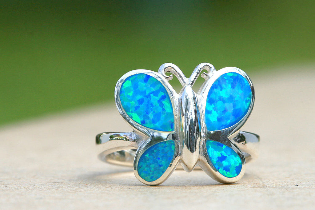 Opal Ring,Butterfly Ring,October birthstone,statement ring,agate ring,Gemstone ring,Stone ring,mother ring,mothers day gifts,mom jewelry