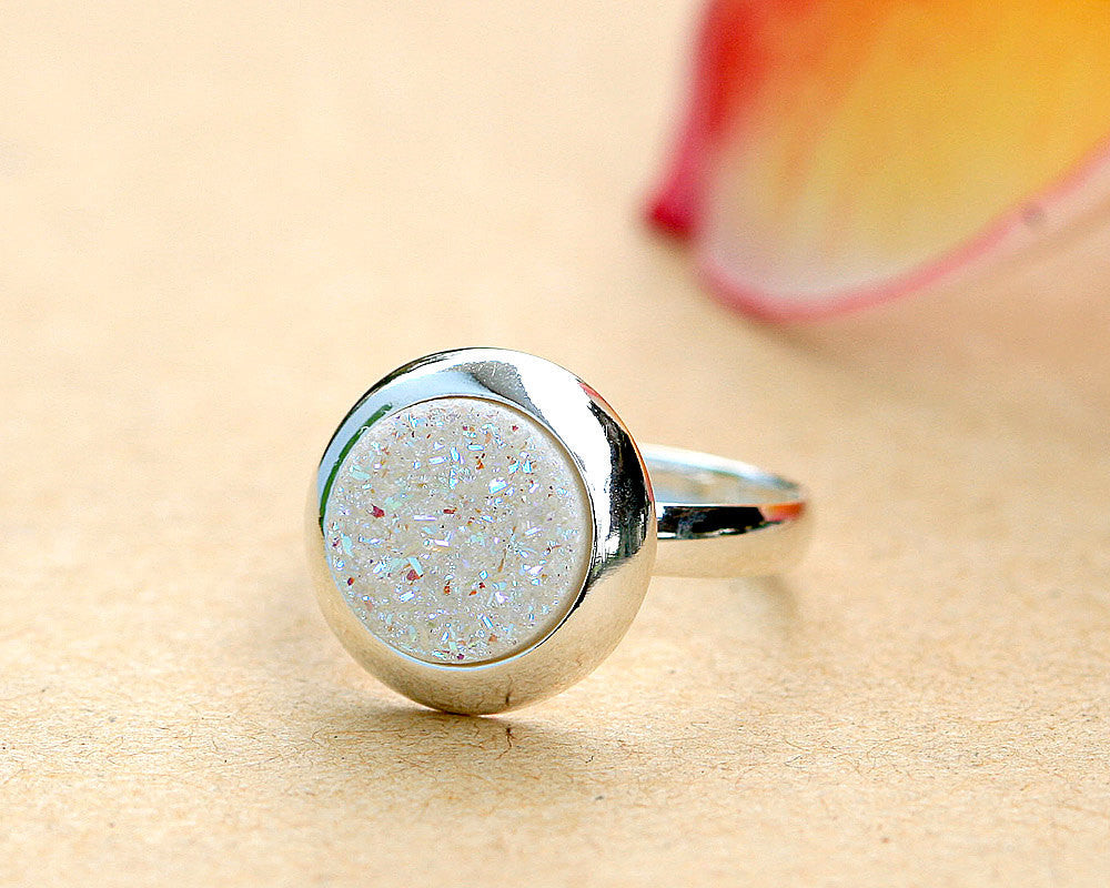 Druzy Ring,Geode Ring,Statement ring,Cocktail ring,Crystal Ring,sterling ring,Quartz ring,quartz,druzy,drusy,geode,silver,sparkle,delicate