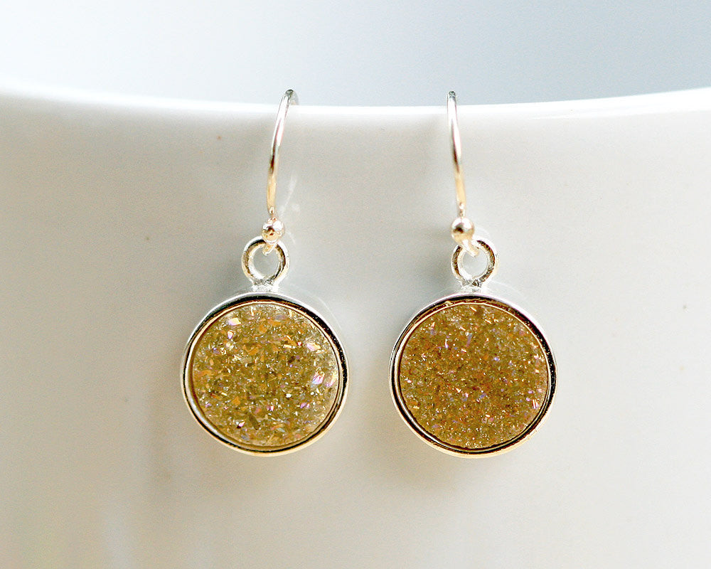 Druzy Earrings,drusy earrings,Geode Earrings,Agate Earring,Gemstone Earring,925 sterling silver