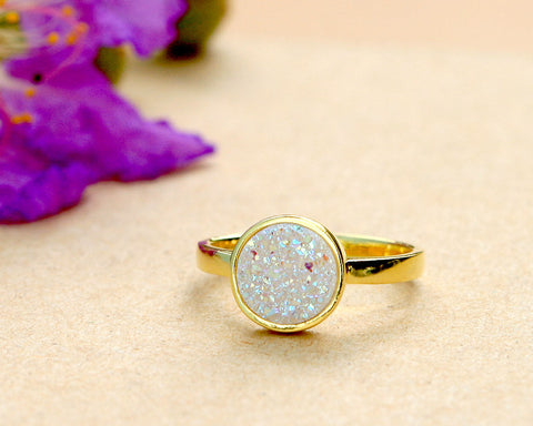 Gold Ring,Crystal Ring,Cocktail Ring,Geode Ring,Gold Ring,Druzy Ring,Gemstone,Sterling silver,Stacking ring,Drusy Ring,Quartz ring,Geode