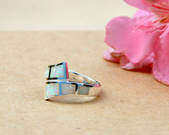 Opal Ring,Geode ring,October Birthstone,Birthstone ring,gemstone ring,Agate ring,Unisex Ring,Father day,For him,Summer gifts,Opal,Trending