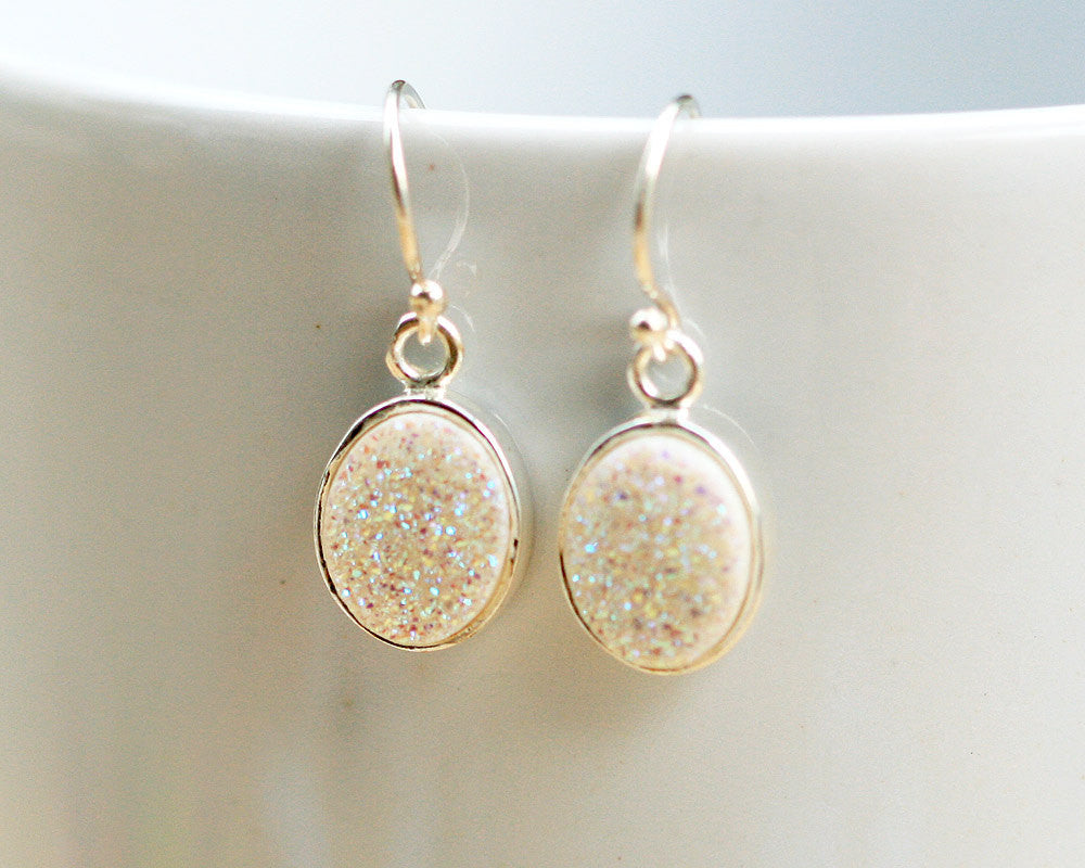 Geode Earrings,Agate Earring,Gemstone Earring,Druzy Earrings,Drusy Earrings,gifst,Quartz,agate,stone,agate,druzy,silver,delicate,sparkle