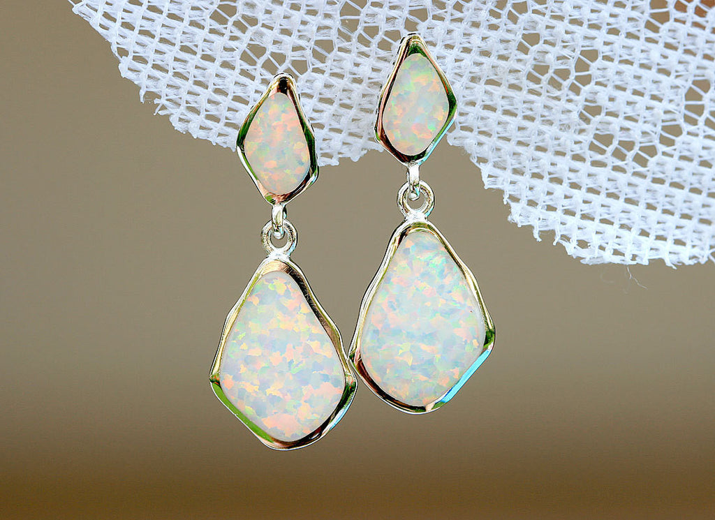 Opal Earrings,Stud Earrings,Geode Earrings,Gemstone Earrings,Agate Earrings,October Birthstone,Stone earrings,Opal,silver,Jewelry,Stone